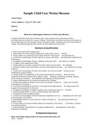 sample youth care worker resume sample customer child youth care