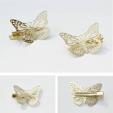 butterfly hair clip gold butterfly hair clip set of 2 chicnico
