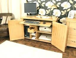 Hideaway Computer Desk Cabinet Oak Hideaway Home Office Computer Desk Tag Oak Home Office Desk