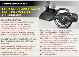 458 italia wheel for xbox 360 thrustmaster f458 italia racing wheel xbox 360 4460094