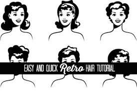 easy retro hair tutorial the glamorous housewife beauty youtube