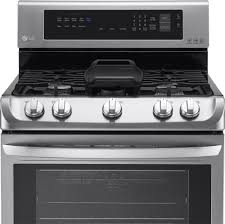 lg 6 3 cu ft self cleaning freestanding gas convection range