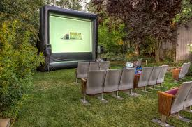 backyard movie theater seating home outdoor decoration