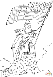 american flag lady coloring page free printable coloring pages