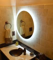 round makeup mirror with lights mam2d32 32 round side lighted vanity mirror wall mounted led