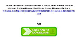 Hbr S 10 Must Reads by Pdf Hbr S 10 Must Reads For Managers Harvard Business Review R