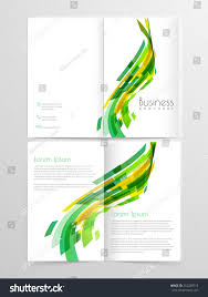 two page brochure template or salary certificate model