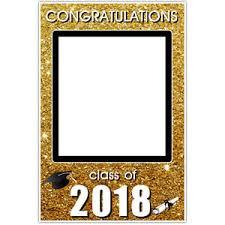 graduation frames graduation class of 2018 gold sparkle selfie frame social media