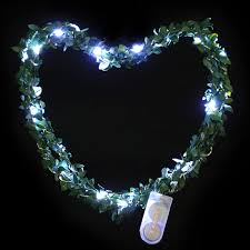 2m 20 led waterproof garland green leaf string light