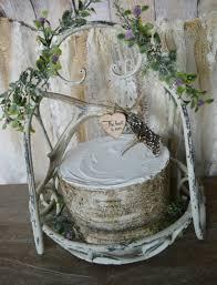 deer antler buck rack wedding cake topper bride groom hunting