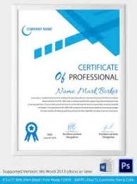 free professional award certificate template sample cover letter