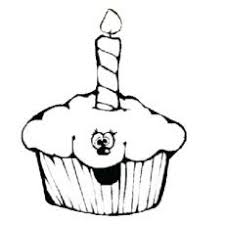 print coloring image simple cupcakes coloring and embroidery