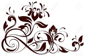 ornamental clipart floral pencil and in color ornamental clipart