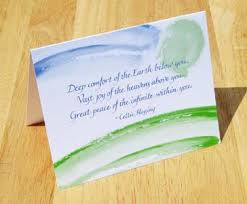 blessing card celtic blessing card blank greeting card by kertz kernion