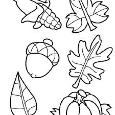 autumn leaves in autumn coloring page color