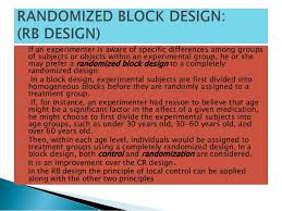 block design experimental design