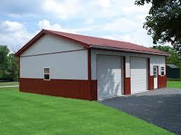 Two Door Garage by Metal Building Garage Plan Metal Building Garage Plan U2013 Garage
