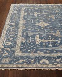 hand knotted oushak rug neiman marcus