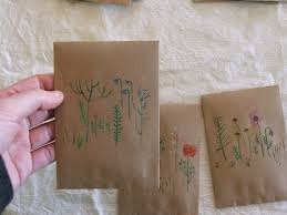 bulk seed packets tiny happy brown envelopes
