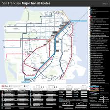 Muni San Francisco Map by Bay Area Transportation Maps Bart Muni Caltrain U0026 More Davide Pio