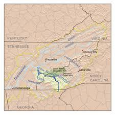 nantahala river map tennessee river
