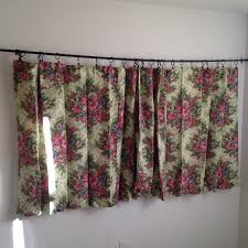 Short Wide Window Curtains by Vintage Floral Curtains Vintage Short Wide Curtains Vintage