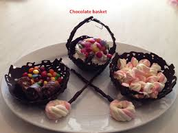 chocolate baskets how to make chocolate baskets with sweet decoration