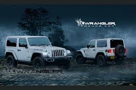 white and blue jeep 2018 jeep wrangler jl to get 368hp turbo four according to