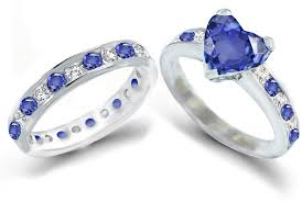 blue wedding rings blue wedding ring blue heart sapphire diamond engagement rings