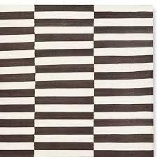 Flat Rug Broken Stripe Flatweave Rug Chocolate Williams Sonoma