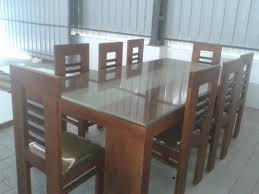 Simple Dining Table Designs In Wood And Glass Wooden Dining Table Designs Kerala
