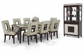 kenzo 11 piece curio dining set bob u0027s discount furniture