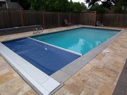 Deep Backyard Pool by Cover Pools Auto Cover Partially Open Pacific Northwest Pools By