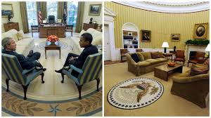 Oval Office Layout How Trump Has Changed The Oval Office So Far Cbs News