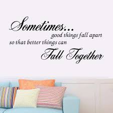 good things fall apart quote kids wall stickers art decal room