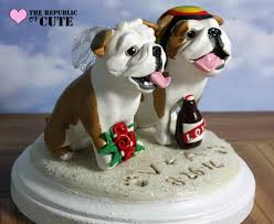 bulldog cake topper custom bulldog wedding cake toppers karly west flickr