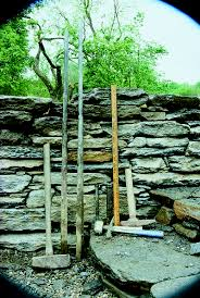 Build Your House On The Rock Meaning Build A Dry Stacked Stone Retaining Wall Finegardening