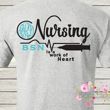 nursing shirt monogrammed rn bsn lpn nursing personalized t shirt customizable