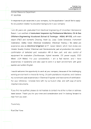 cover letter for electrical engineer fresh graduate choice image
