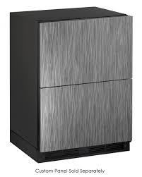 uline rolling tool cabinet u line undercounter refrigerator drawers u 1224dwrint 00b