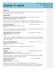 Certified Nursing Assistant Resume Templates Resume Template For Nursing Assistant Resume For Your Job
