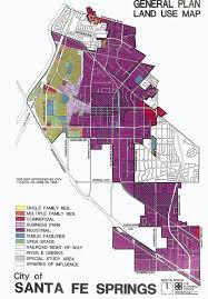 Santa Fe Map Santa Fe Springs General Plan Map