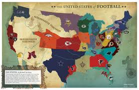A Picture Of The United States Map by United States Of Football Visual Ly