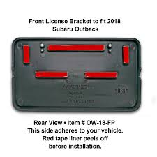 subaru outback 2018 red front and rear license plate frame bracket assembly to fit 2018