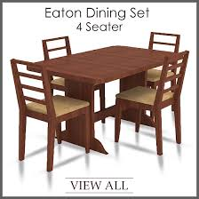 4 Seater Dining Table And Chairs Bent 4 Seater Glass Top Dining Table Set Woodys Furniture Creative