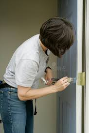 woman painting a door stock image image of brushing build 292149