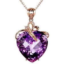purple heart necklace images Purple heart necklace jpg