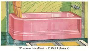 Pink Bathtub The Color Pink In Bathroom Sinks Tubs And Toilets From 1927