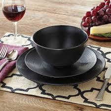 better homes and gardens matte swirl 12 dinnerware set