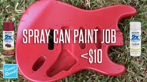 can you paint a guitar with spray paint for less than 10 youtube